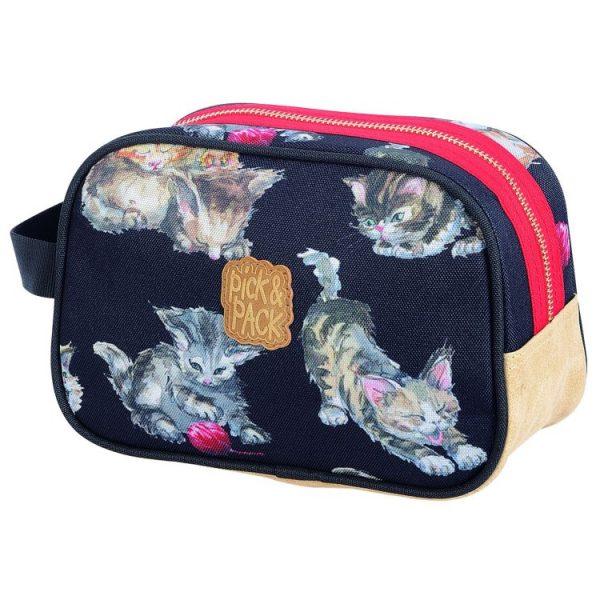 Pick & Pack, katt, necessär, svart