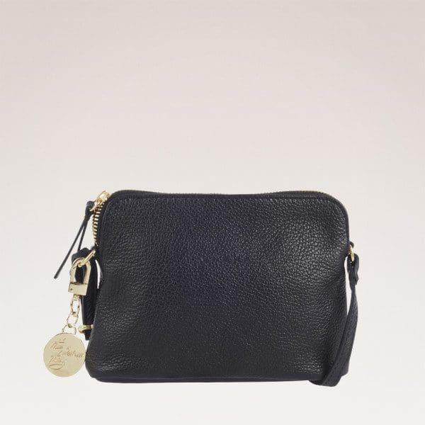 Ulrika Design, väska i Italienskt skinn, svart, Med Guld
