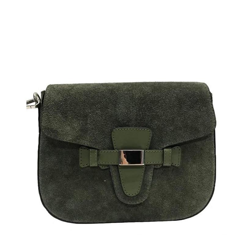 Ulrika Design, med axelrem, mockaskinn, grön